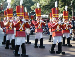 Marching nutcrackers