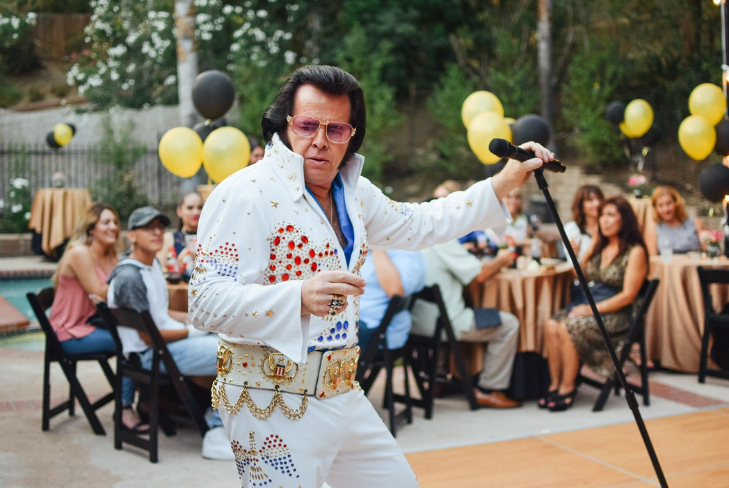 An Elvis impersonator.