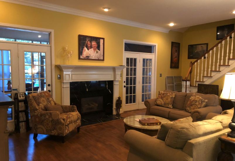 formal living room of 659 owen road new albany