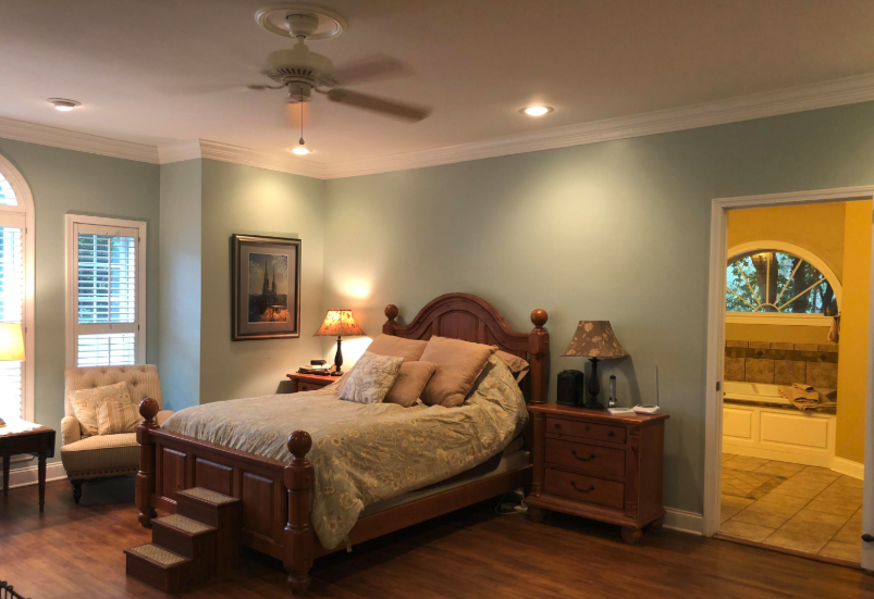 large master suite in a new albany home